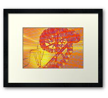 Genetic codes and DNA Framed Print