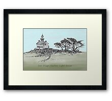 San Diego's Light House Framed Print
