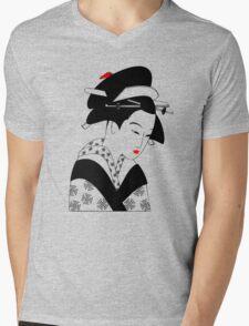 Geisha Mens V-Neck T-Shirt