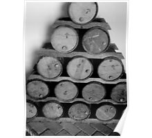 Stacked Barrels Poster