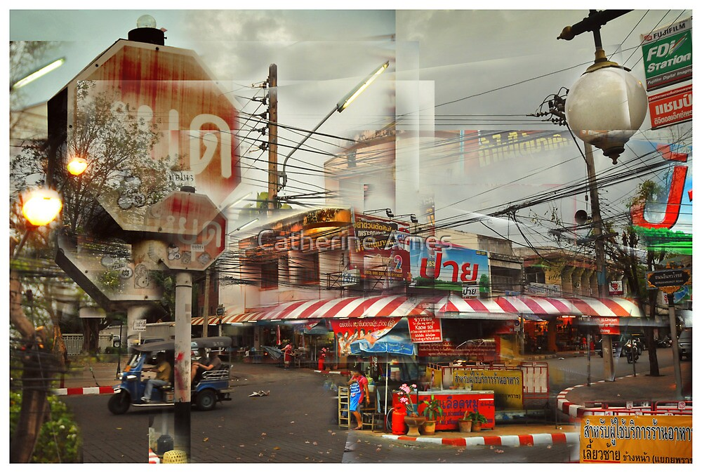 Street corner, Chiang Mai Thailand by Catherine Ames