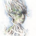 Tree Dryad (Watercolor) by Jessica Feinberg