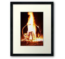 Pallet Fire 3 Framed Print