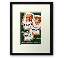 Victory Book Campaign Framed Print