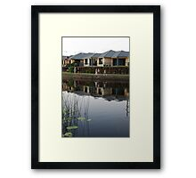 Reflecting on Suburbia Framed Print