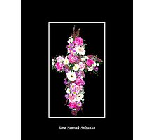 Floral Cross Photographic Print