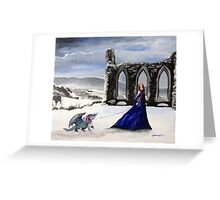 Snow Dragon Greeting Card