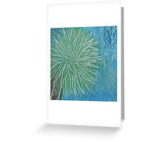 Sunny California palm tree in Spring Greeting Card