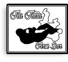 Jiu Jitsu Arm Bar Black  Canvas Print