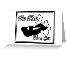 Jiu Jitsu Arm Bar Black  Greeting Card