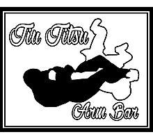 Jiu Jitsu Arm Bar Black  Photographic Print