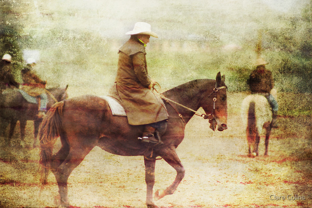 Rainy day Cowboys by Clare Colins