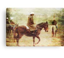 Rainy day Cowboys Canvas Print