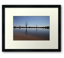 Still Water Reflections Framed Print