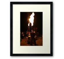 Fire Cannon Framed Print