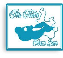 Jiu Jitsu Arm Bar Blue  Canvas Print