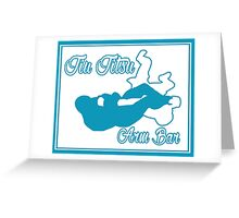 Jiu Jitsu Arm Bar Blue  Greeting Card