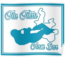 Jiu Jitsu Arm Bar Blue  Poster