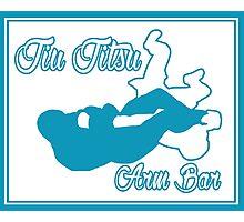 Jiu Jitsu Arm Bar Blue  Photographic Print