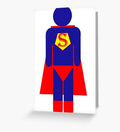 Super Man Greeting Card