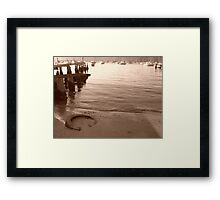 Jetty Junk Framed Print
