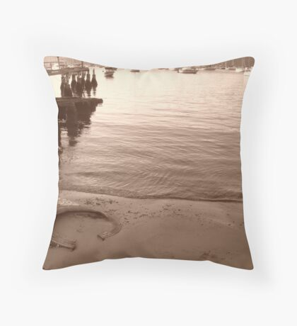 Jetty Junk Throw Pillow