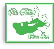 Jiu Jitsu Arm Bar Green  Canvas Print