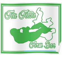 Jiu Jitsu Arm Bar Green  Poster