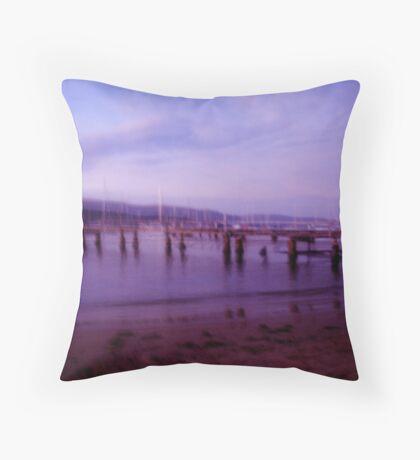 Sundown Jetty Throw Pillow