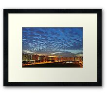 Blue dawn at Compassvale Framed Print