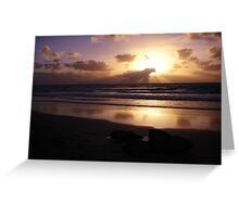 West Coast Sunset Greeting Card