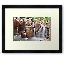 Artificial waterfall - Hong Kong Disneyland Framed Print