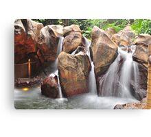 Artificial waterfall - Hong Kong Disneyland Canvas Print