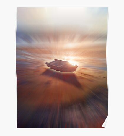 Boat Glow Poster