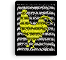 """""""The Year Of The Rooster / Cockerel"""" Canvas Print"""