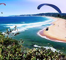 Narrabeen Watercolour Daubs by Caine Mazoudier
