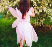 I Quietly Captured A Garden Fairy Tending To My Flowers by Wanda Raines
