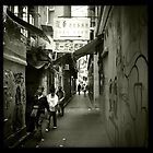 Busy alley - Back alleys of Causeway Bay IV by robigeehk