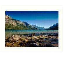 Looking to America, Waterton Lakes NP, Canada Art Print