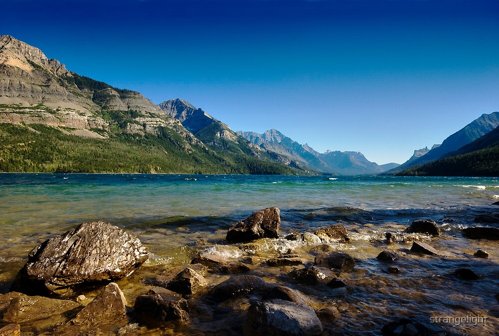 Looking to America, Waterton Lakes NP, Canada by strangelight