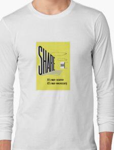 Share Sugar -- WW2 Rationing Long Sleeve T-Shirt