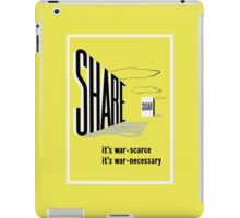 Share Sugar -- WW2 Rationing iPad Case/Skin