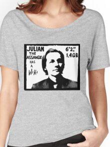 Julian Assange has a Wiki Women's Relaxed Fit T-Shirt