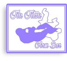 Jiu Jitsu Arm Bar Purple  Canvas Print