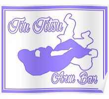 Jiu Jitsu Arm Bar Purple  Poster