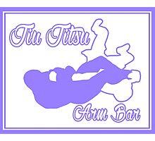 Jiu Jitsu Arm Bar Purple  Photographic Print
