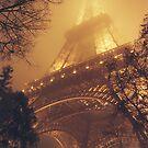 Tour Eiffel dans le brouillard by Yves Roumazeilles