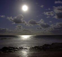 Moon over Turrimetta Sunday 17 April 2011 by Doug Cliff