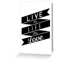 Inspirational motivational quote Greeting Card