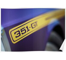 Purple Ford Falcon XY GT 351 Poster